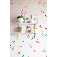 Extra Tiny Triangles Rainbow Wall Decal