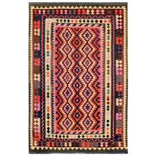 Hand-Woven Purple/Red Area Rug