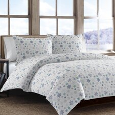 Tossed Snowflake 2 Piece Twin Duvet Cover Set