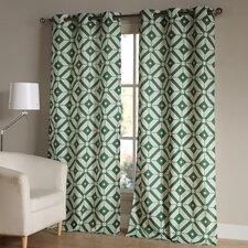 McKenna Geometric Semi-Sheer Grommet Curtain Panels (Set of 2)