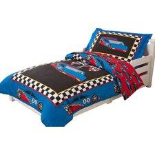 Racecar 4 Piece Toddler Bedding Set