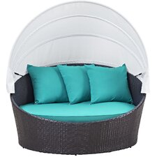 Convene Canopy Outdoor Patio Daybed with Cushions