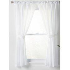 Wayfair Basics Solid Sheer Rod Pocket Bathroom Curtain Panels (Set of 2)