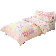 Dollhouse Cottage 4 Piece Toddler Bedding Set