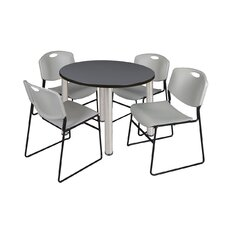 Kee Round Table with 4 Zeng Chairs