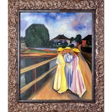 Three Girls on the Jetty 1903 by Edvard Munch Framed Oil Reproduction