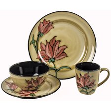 Flowers 16 Piece Dinnerware Set