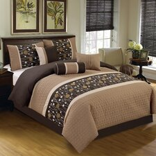 Chinensis Embroidered 7 Piece Comforter Set