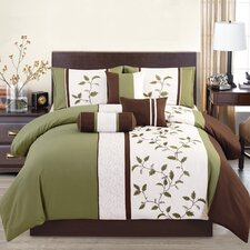 Woodchase Embroidered 7 Piece Comforter Set