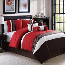 Amberlyn Embroidered 7 Piece Comforter Set