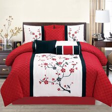 Sakura Embroidered Comforter Set