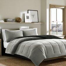 Premium Fleece 3 Piece Reversible Comforter Set