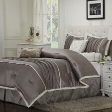 Blakely 7 Piece Embroidered Reversible Comforter Set