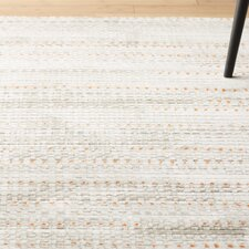 Burroughs Light Gray/ Burnt Orange Area Rug