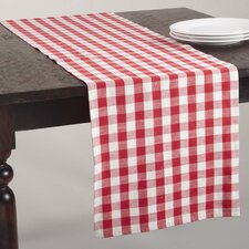 Gingham Design Table Runner