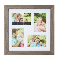 4 Opening Wood Collage Picture Frame