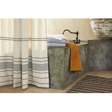 Rippled Stripe Cotton Shower Curtain