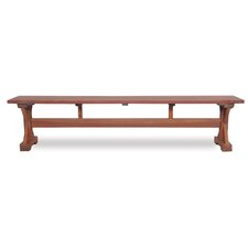 Wood Trestle Entryway Bench