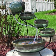 Ceramic Solar Cascade  Fountain