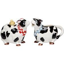 Cow Sugar and Creamer Set