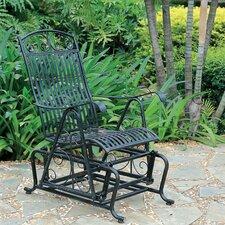 Snowberry Iron Single Patio Glider Chair