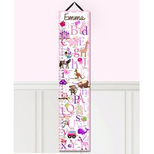Alphabet Personalized Canvas Growth Chart