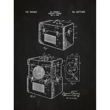 Music and Audio 'Speaker Cabinet 1946' by E.P. Kennedy Silk Screen Print Graphic Art in Chalkboard/White Ink