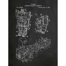 Toys and Collectibles 'Transformers: Optimus Prime G1' Silk Screen Print Graphic Art in Chalkboard/White Ink
