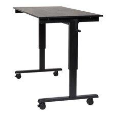 Crank Standing Desk in Black Oak