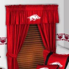 "NCAA 88"" Arkansas Razorbacks Curtain Valance"