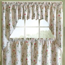 English Garden Floral Jacquard Kitchen Curtain Valance