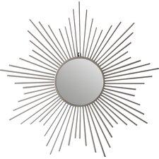 Sunburst Silver Metal Accent Wall Mirror