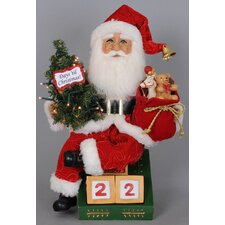 Christmas Lighted Count Down Til Santa Figurine