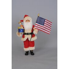 Christmas USA Santa Figurine