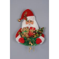 Christmas Santa Figurine Head with Gift Bag