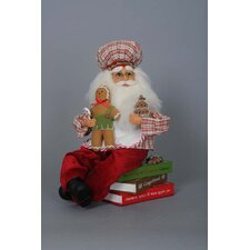 Christmas Gingerbread Santa on Cookbooks Figurine