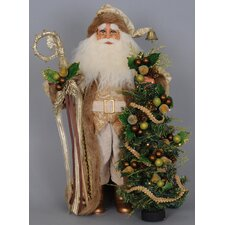 Christmas Lighted Santa Figurine