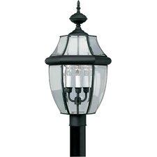 Outdoor Brass 3-Light Lantern Head