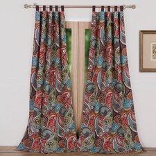 Tivoli Paisley Sheer Tab Top Curtain Panels (Set of 2)