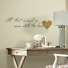 Heart Quote Peel and Stick Wall Decal