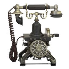 Antique Reproduction Aristocrat Cradle Push Button Telephone