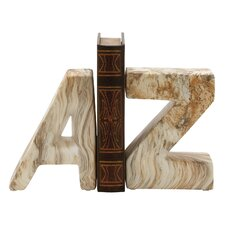 """A"" and ""Z"" Ceramic Book Ends (Set of 2)"