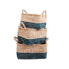3 Piece Water Hyacinth Basket