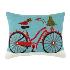 Holiday Embroidered Pillow