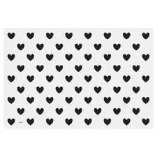 Plastic Big Hearts Placemat (Set of 8)