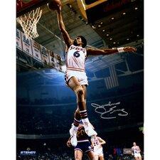 Philadelphia 76ers Julius Erving Dunking Signed Photographic Print
