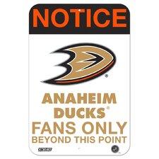 Fans Only Aluminum Sign Textual Art