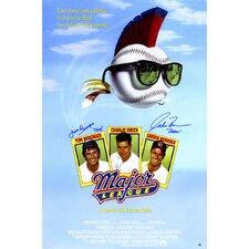 Tom Berenger/Corbin Bernsen Dual Signed Major League Movie Poster Graphic Art