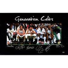 Ray Allen/Larry Bird/Kevin Garnett/Kevin McHale/Robert Parish/Paul Pierce Generation Celts Multi Signed Graphic Art