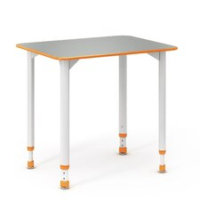 A&D Wood Adjustable Height Collaborative Desk